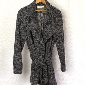 Women's Grey B&W LOFT Cardigan